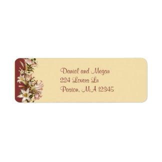 Vintage Wedding Return Address Avery Label