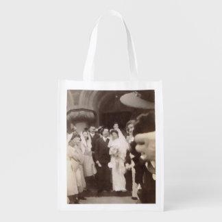 Vintage Wedding Reusable Grocery Bag
