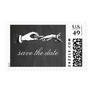 Vintage Wedding Ring Save the Date Stamp