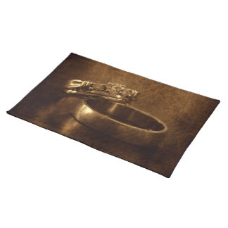 vintage wedding rings rustic engagement party placemat