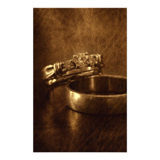 vintage wedding rings rustic engagement party stationery