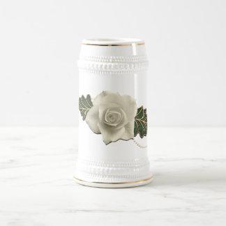 Vintage Wedding Rose Beer Stein