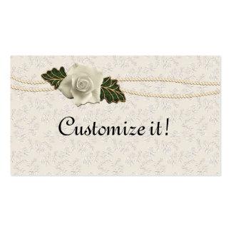 Vintage Wedding Rose Business Card