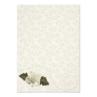Vintage Wedding Rose Card