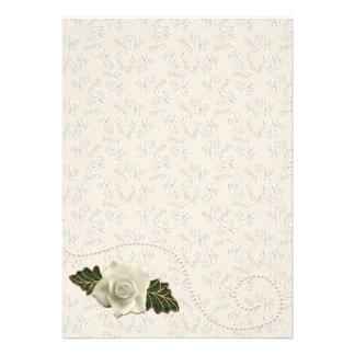 Vintage Wedding Rose Custom Invitation