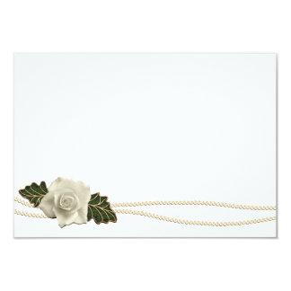 Vintage Wedding Rose 3.5x5 Paper Invitation Card