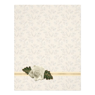 Vintage Wedding Rose Letterhead