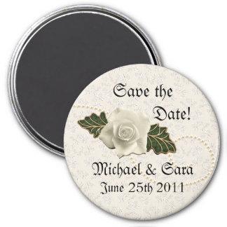 Vintage Wedding Rose Fridge Magnets