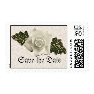 Vintage Wedding Rose Postage