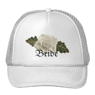 Vintage Wedding Rose Trucker Hat