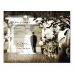 "Vintage Wedding RSVP 4.25"" X 5.5"" Invitation Card"