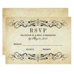 Vintage Wedding Rsvp Cards | Elegant Flourish at Zazzle