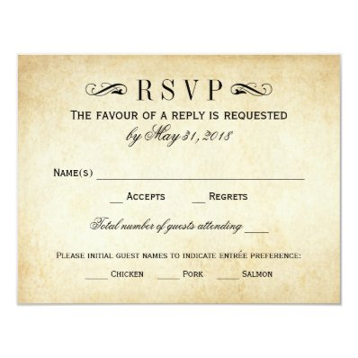 Vintage Wedding RSVP Cards | Elegant Flourish