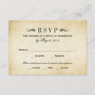Vintage Wedding RSVP Cards | Elegant Flourish