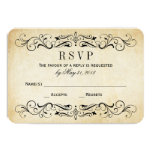Vintage Wedding RSVP Cards | Elegant Flourish Personalized Announcement