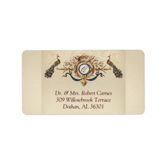 Vintage Wedding RSVP Return Address Labels