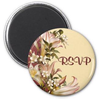 Vintage Wedding RSVP Round Magnet