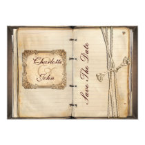 vintage wedding Save the date Card