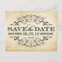 Vintage Wedding Save the Date | Elegant Flourish