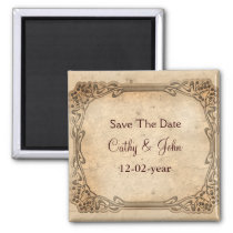 vintage wedding  Save the date magnet