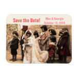 Vintage wedding Save the Date Magnet customize it!