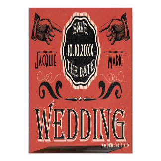 Vintage Wedding Save The Date Magnetic Card