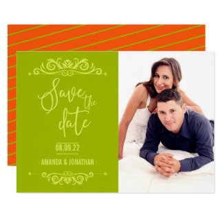 Vintage Wedding Save the Date personalised photo Card