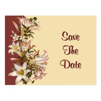 Vintage Wedding Save The Date Postcard