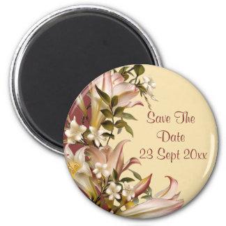 Vintage Wedding Save The Date Round Magnet