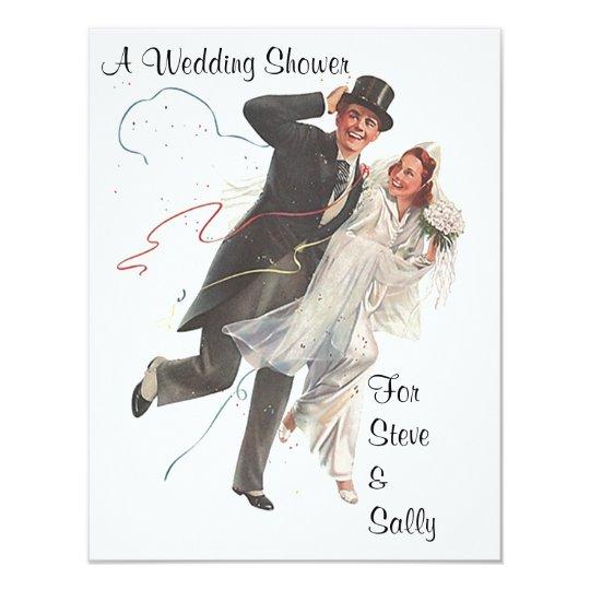 Vintage Wedding Shower Announcement Invitation