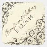 vintage wedding stickers