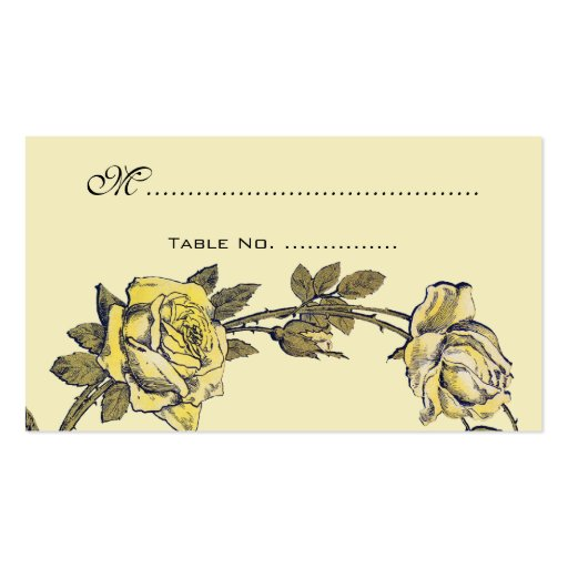 Vintage Wedding Table Numbers, Antique Rose Wreath Business Card