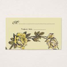 Vintage Wedding Table Numbers, Antique Rose Wreath Business Card at Zazzle