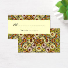 Vintage Wedding Table Numbers, Flowers Butterflies Business Card at Zazzle
