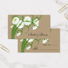 Vintage Wedding Table Numbers Gerber Daisy Flowers Business Card at Zazzle