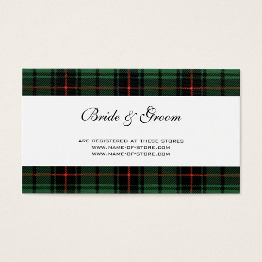 Vintage Wedding, Tartan Davidson Modern Pattern Business Card