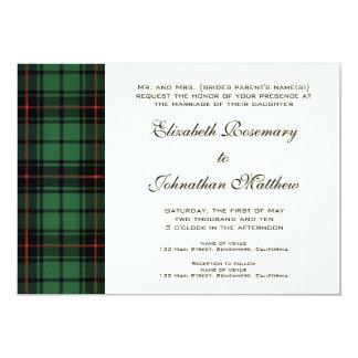 Vintage Wedding, Tartan Davidson Modern Pattern Card