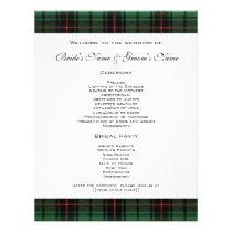 Vintage Wedding, Tartan Davidson Modern Pattern Flyer