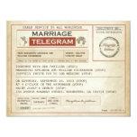 """vintage WEDDING telegrams INVITATIONS 4.25"""" X 5.5"""" Invitation Card"""