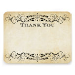 Vintage Wedding Thank You Cards   Elegant Flourish