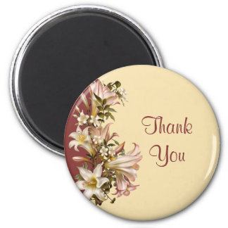 Vintage Wedding Thank You Round Magnet