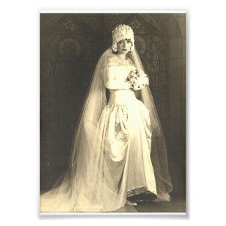 Vintage Wedding The Bride Photo Print