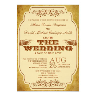 Vintage Wedding Theatre Production Card