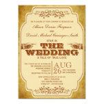 Vintage Wedding Theatre Production 5x7 Paper Invitation Card