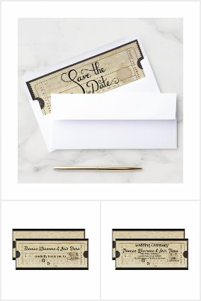 Vintage Wedding Ticket