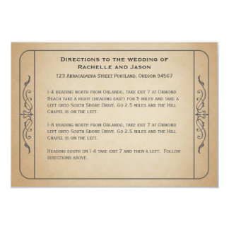Vintage Wedding Ticket Driving Directions 3.5x5 Paper Invitation Card