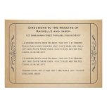 Vintage Wedding Ticket Driving Directions Invites