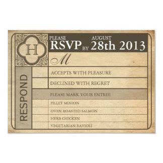 Vintage Wedding Ticket  III  Punchout Card
