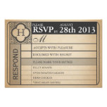Vintage Wedding Ticket  III  Punchout Personalized Invite