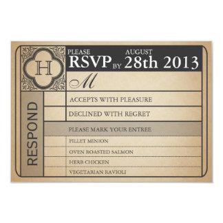 "Vintage Wedding Ticket  III  Punchout 3.5"" X 5"" Invitation Card"